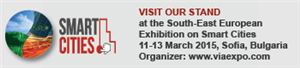 "R2CITIES @ the SEE Exhibition ""Smart Cities"", Sofia, Bulgaria on 11-13 March 2015. Come and visit us at the CARTIF stand!"